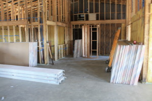 Apr 12th- drywall is ready to be hung, starting tomorrow!